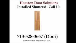Wooden Plantation Shutters Installed Houston - 713-528-3667 (door) - Houston Door Solutions