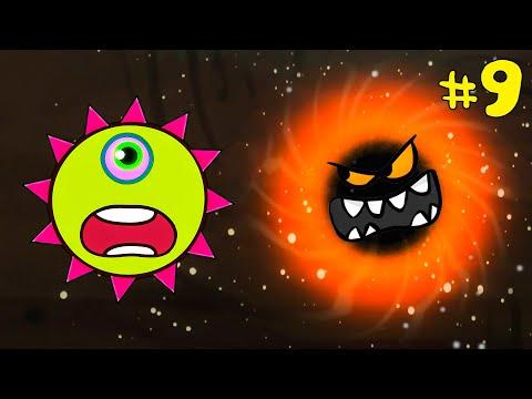 Лизун СЛИЗНЯК захватывает мир #9. Глазастик съел всех на луне. Серия 3. Игра Mutant Blobs Attack