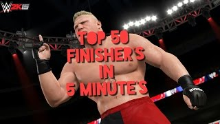 WWE 2k15 PC Top 50 finishers in five minutes