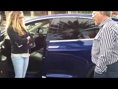 Woman asks too many questions about falcon doors