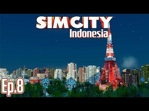TOKYO TOWER, AKADEMI DAN KERETA - SimCity 5 Indonesia | Season 2 - Ep.8