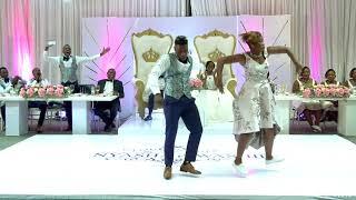 Groom joins on fire Groomsman & Bridesmaid on the dance floor...