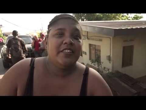 2 Hospitalised in Accident on Vistabella Rd. San Fernando July 22, 2015. Trinidad & Tobago