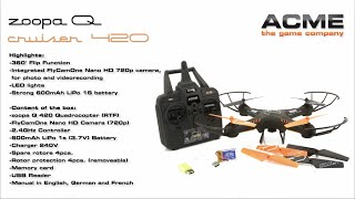 ACME zoopa Q 420 Cruiser (incl. 720P HD cam)  Actionvideo (english)