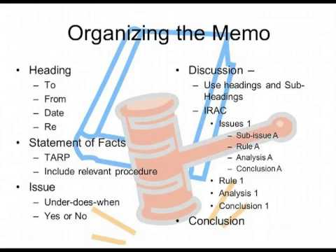 Memo Of Law - Youtube