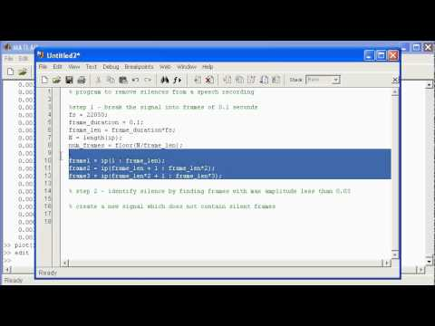 signal processing matlab tutorial