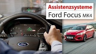 Ford Focus 2018 Assistenzsysteme im Test: Head-Up-Display, Co-Pilot 360, Cross Traffic, Park Assist
