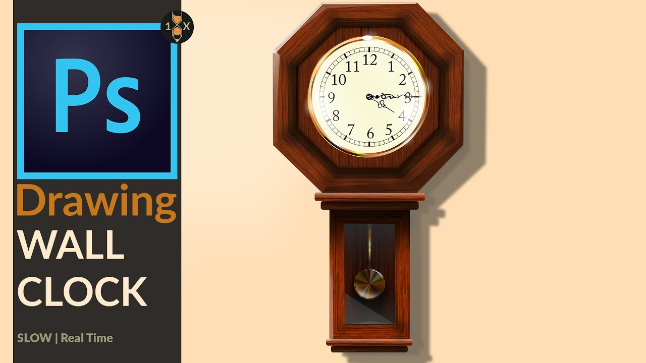 Drawing a Old analog Wooden Wall Clock in Adobe Photoshop ...