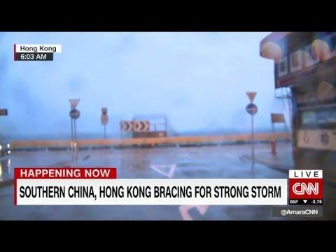 Typhoon Nida shuts down Hong Kong