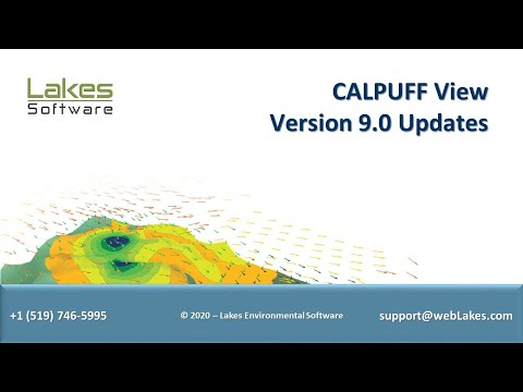 Lakes Environmental Software Webinar - CALPUFF View Version 9.0 Update