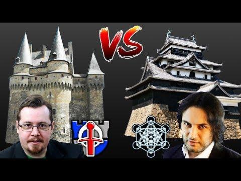 Feudal Japanese vs Medieval European CASTLES