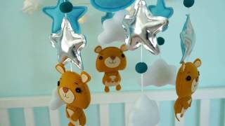 Baby crib mobile for boys and girls boy