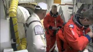 STS-133 Astronauts Board Shuttle Discovery NASA