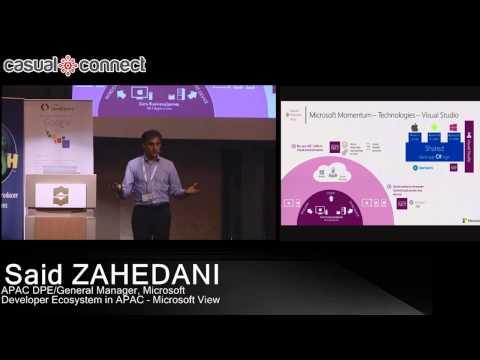 Developer Ecosystem in APAC - Microsoft View   Said ZAHEDANI