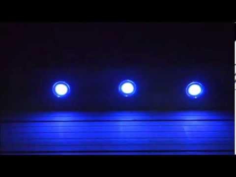 kit mini spots led rond rgb demo - youtube