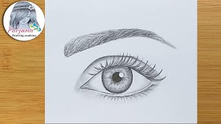 Easy way to draw a realistic eye for Beginners step by step