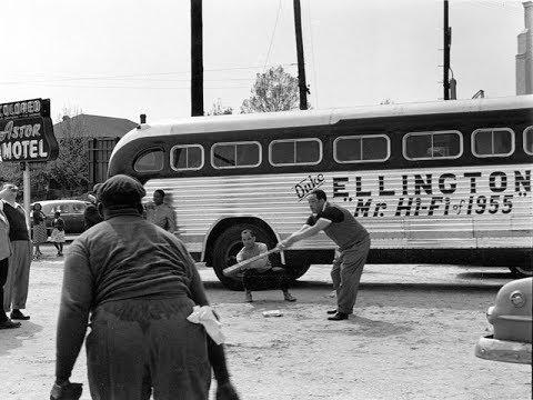 Duke Ellington playing baseball