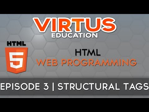 HTML Web Programming Tutorial Series - #3 HTML Structural Tags