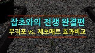 잡초와의 전쟁 완결편 (부직포 vs. 제초매트 효과비교…
