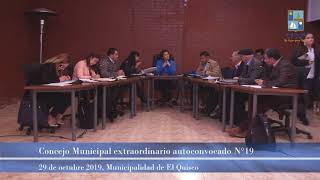 Concejo Municipal extraordinario autoconvocado n°19, martes 29 de octubre 2019