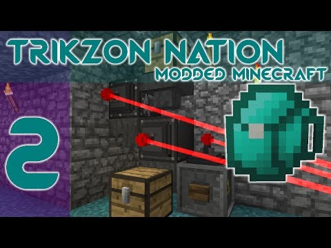 ACTUALLY ADDITIONS & Mining BACKPACK| Ep 2 | Trikzon Nation 1.10.2 Modded Minecraft Building