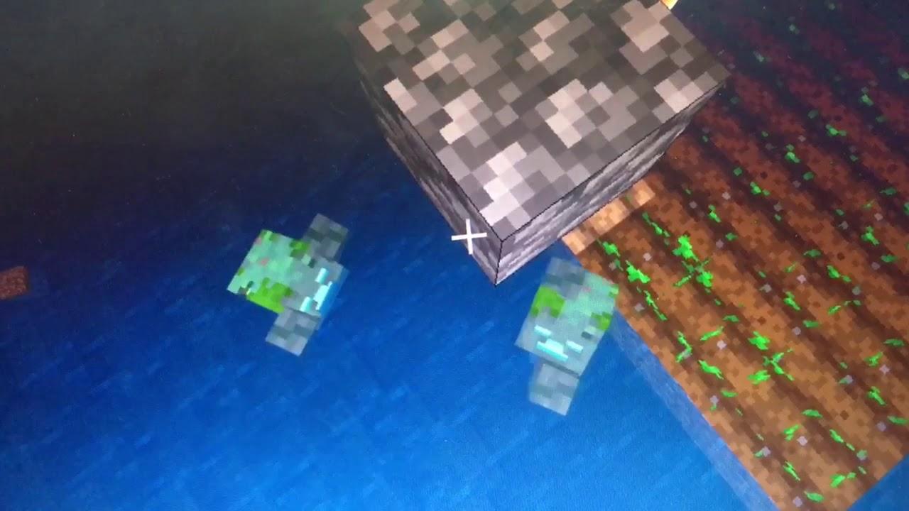 リズムを刻むドラウンド マインクラフト  マイクラ minecraft drowned