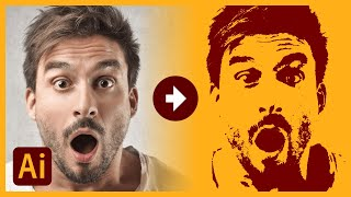 How To Trace An Image To Vector with Illustrator | Color and Monotone