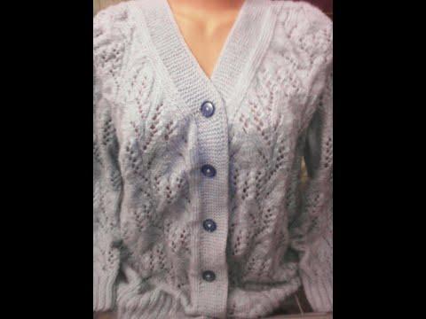 Женская кофта на размер 58-60 Часть 2.#мастеркласс #красивыйузор #вязание #knitting #лучшее #мк