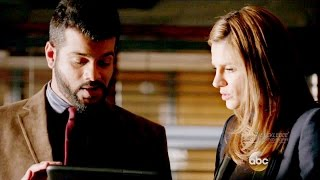 "Castle 8x19 Beckett & Vikram  Talk about LokSat  ""Dead Again"" Season 8 Episode 19"