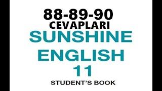 11.  Sınıf İngilizce Sunshine Ders Kitabı Cevapları Sayfa 88-89-90