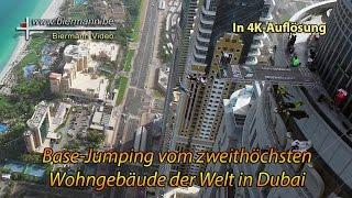 Basejump von Dubai-Hochhaus (4K) 2015