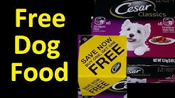 FREE Dog Food cesar dog food Coupon Voucher ~ I got over $2500