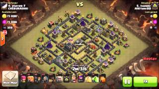 Clash of Clans TH9 3 star War Attack : GoHog (surgical hogs)
