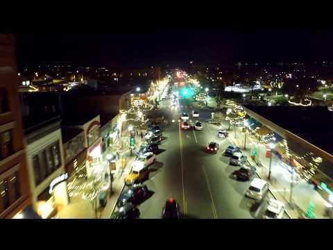 Colorado Springs after dark ( 4k drone video)