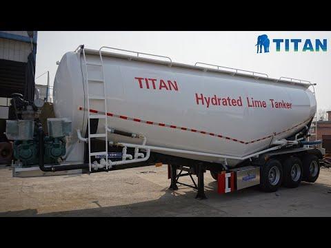 Titan V Type Silobas Cement Bulker Tanker Truck Trailer for ...