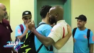 صدى البلد | شيكابالا يحرص على تحية لاعبى الزمالك قبل مباراة الرائد السعودي وديا