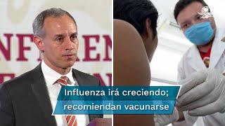 El subsecretario de Salud, Hugo López-Gatell, resaltó que a partir de la semana epidemiológica 40, que inició este domingo, se empezarán a ver casos de influenza, siendo los meses de diciembre y enero el punto máximo