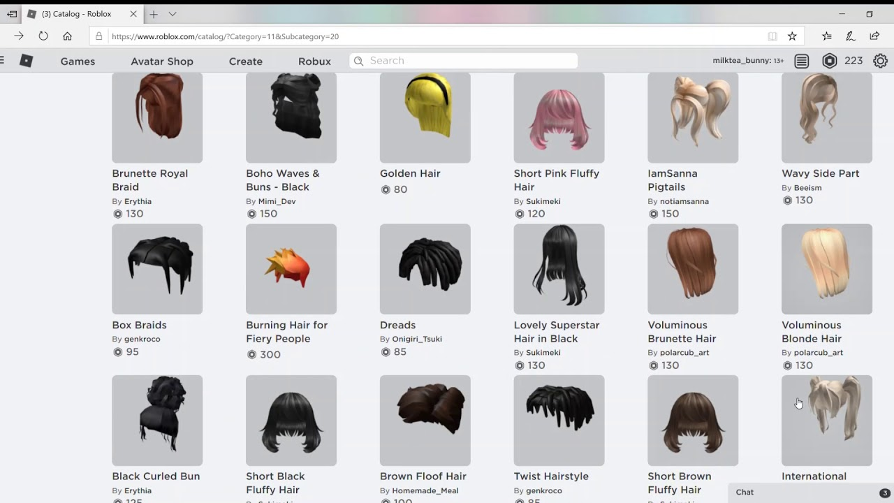 11 Of My Favorite Female Roblox Hairs Youtube