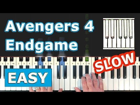 Avengers 4 - Endgame - SLOW Piano Tutorial Easy (Trailer Music) - Sheet Music thumbnail