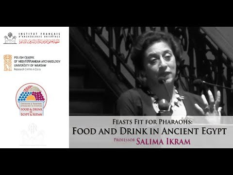 """Prof. salima Ikram: """"Food & Drink in Ancient Egypt"""", lecture given at the IFAO, 21 march 18"""