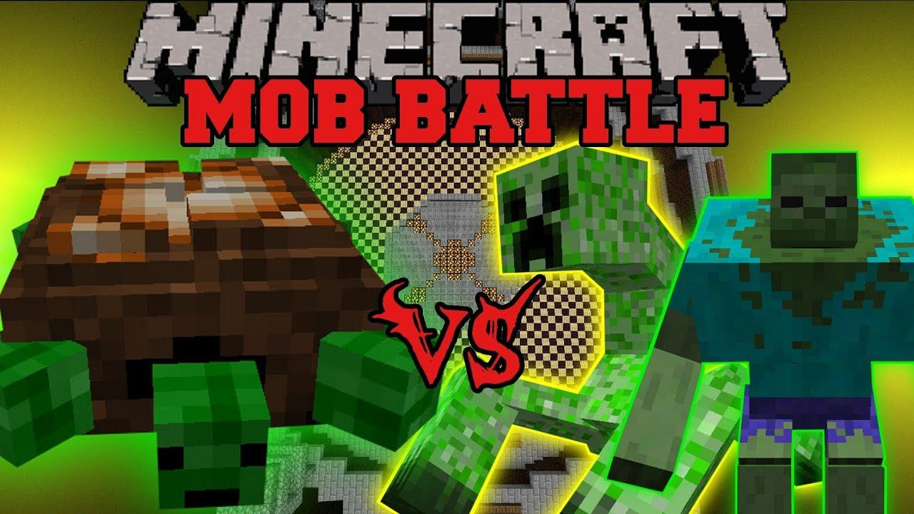 Turtle boss vs mutant creeper mutant zombie t rex - Minecraft zombie vs creeper ...