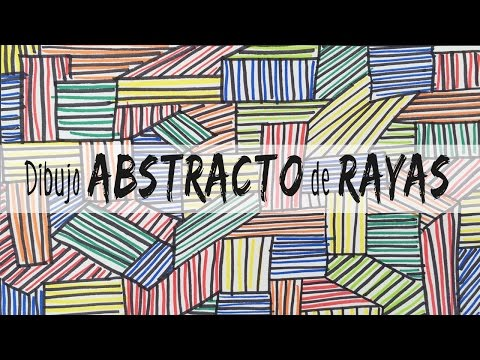 Dibujo Abstracto De Rayas Youtube