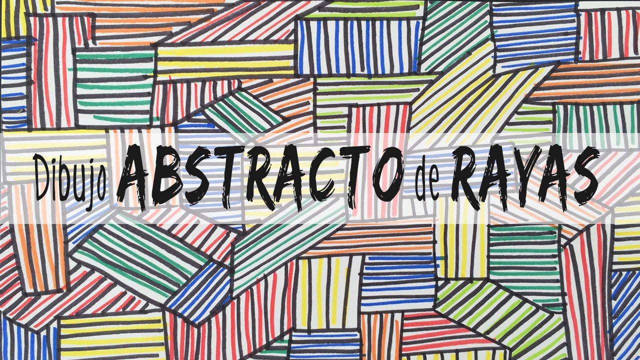 Dibujo abstracto de rayas youtube for Imagenes de cuadros abstractos para colorear