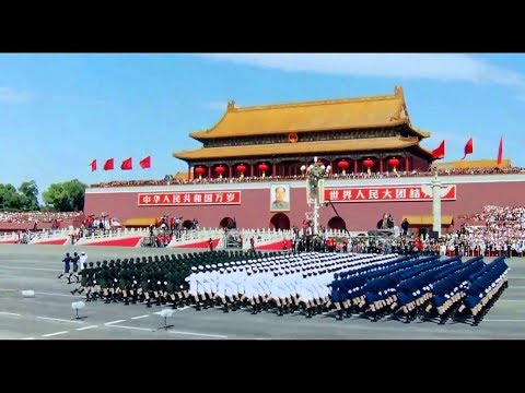 Chinese military parade Tiananmen square Beijing 北京天安門閱兵