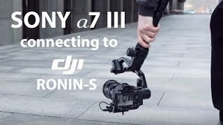 SONY a7 III connecting to DJI Ronin-S Tutorial (MCC-C & RSS-IR cable connection)