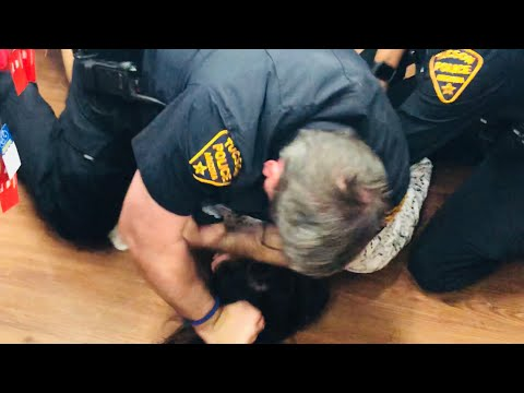 Resist Police Arrest Black Friday Walmart 2017