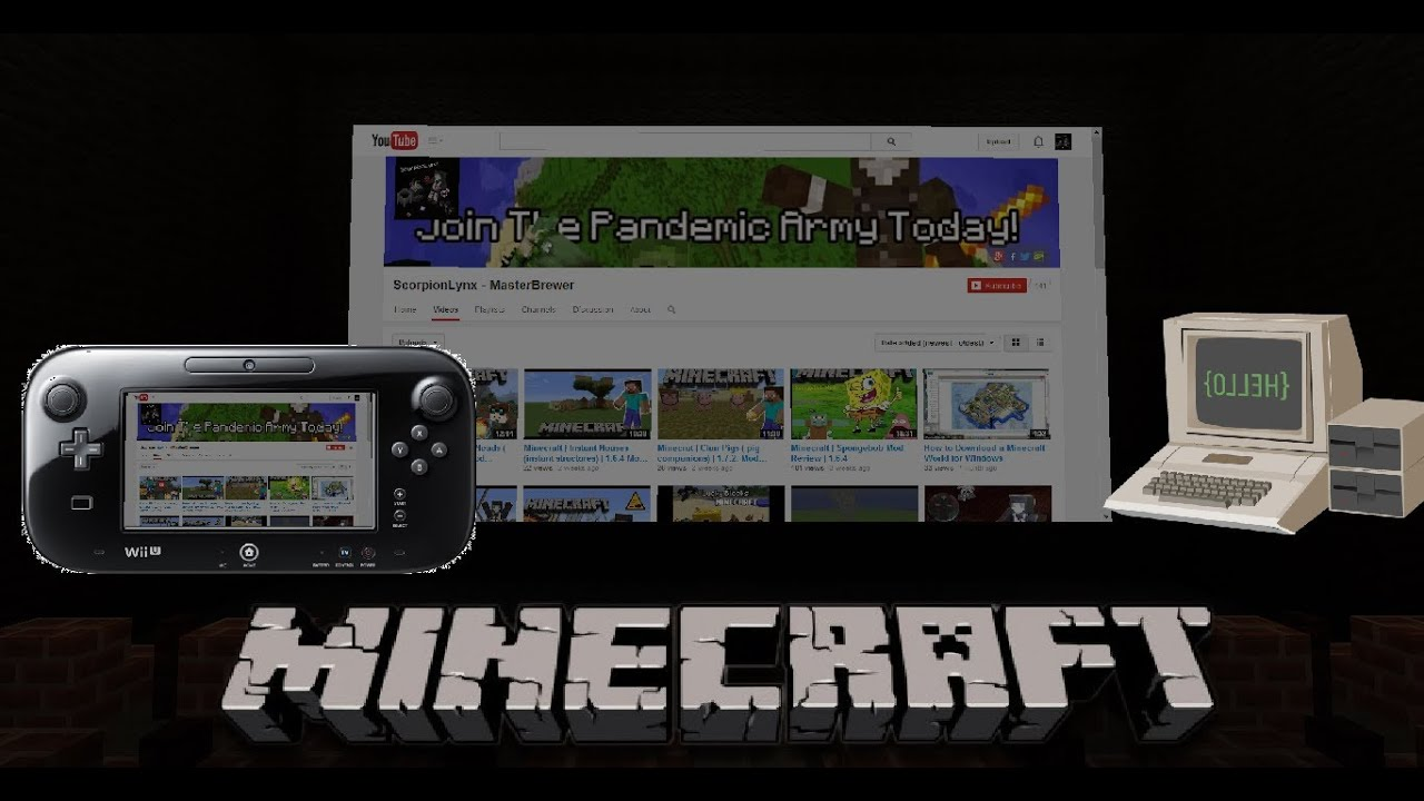 Minecraft movie theators computers and the wii u web for Wii u portable mod