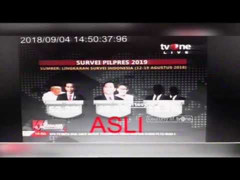 Berita TvOne Soal Hasil Survei Pilpres 2019 Dipalsukan