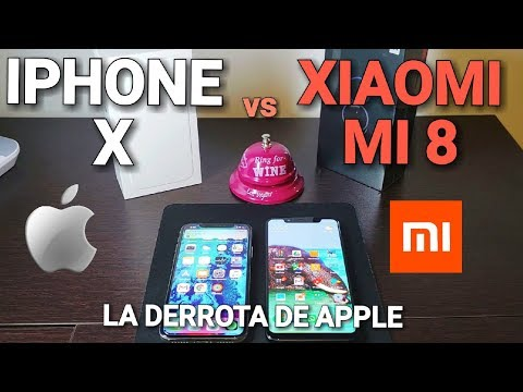 Iphone X vs Xiaomi MI 8! La derrota de Apple!