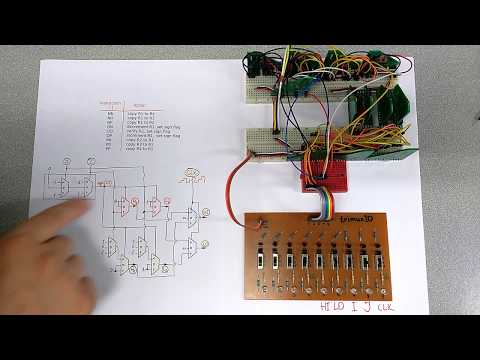 Assembling and testing 1-trit computer: instruction set and memory addressing